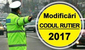 Noul cod rutier 2017 a intrat in vigoare din 21 ianuarie