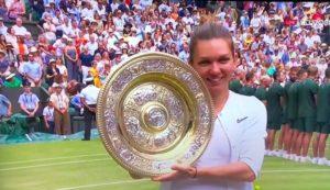 Simona Halep – castiga finala la Wimbledon